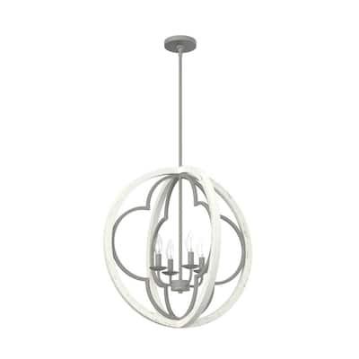Gablecrest 4-Light Rustic White Mini Pendant