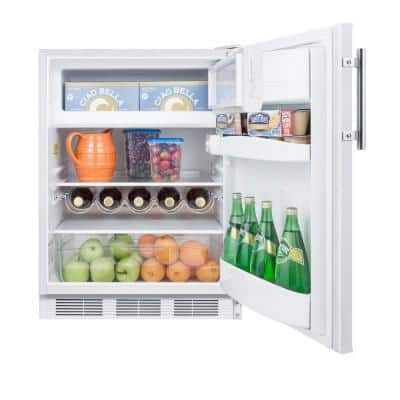5.1 cu. ft. Mini Refrigerator with Freezer in White