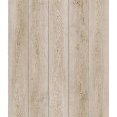 7.20 in. W x 42 in. L Silver Key Beach Oak SPC Waterproof Click-Lock Vinyl Plank Flooring (25.20 sq. ft./case)