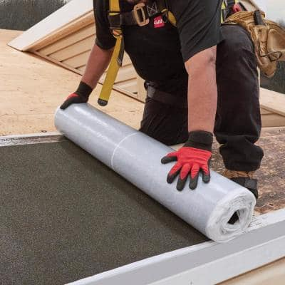 WeatherWatch 36 in. x 50 ft., 150 sq. ft. Mineral-Surfaced Peel and Stick Roof Leak Barrier Roll