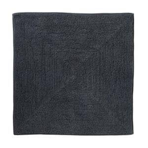 Ombre Charcoal 25 in. W x 25 in. L 100% Cotton Bath Mat Rug