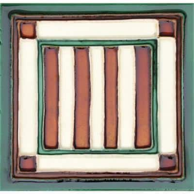 Hand-Painted Ceramic Bandera 6 in. x 6 in. x 6.35 mm Glazed Ceramic Wall Tile (2.5 sq. ft. / case)