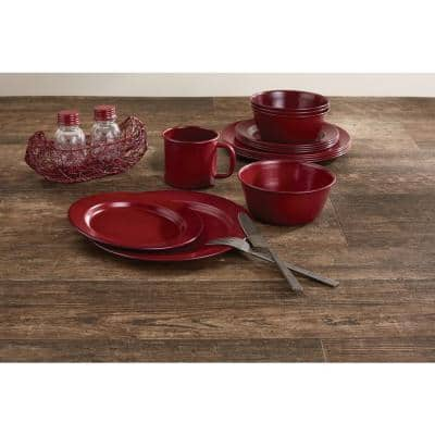 Linville Red Enamel Dinner Plate (Set of 4)