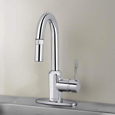 2600 Series Single-Handle Pull-Down Sprayer Laundry Faucet in Chrome