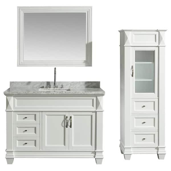 D Bath Vanity, Bathroom Vanity And Linen Cabinet