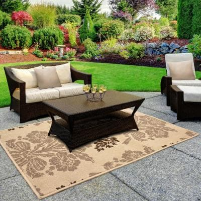 Tatton Taupe 11 ft. x 8 ft. Indoor/Outdoor Area Rug