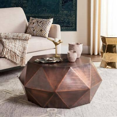 Astrid 31 in. Copper Medium Specialty Metal Coffee Table