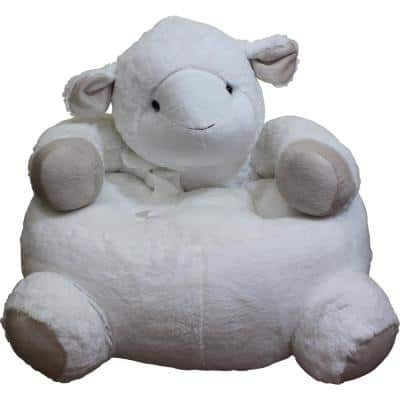 White Plush Kids Lamb Chair