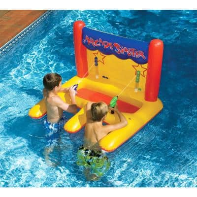 Dual Water Gun Inflatable Arcade Shooter Pool Game