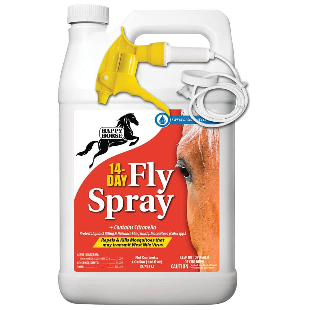 Harris 1 Gal 14 Day Fly Spray For Horses Happy 128 The Home Depot