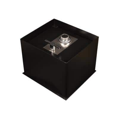 0.68 cu. ft. Steel Floor Safe with Mechanical/Dial Lock, Black
