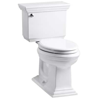 Memoirs Stately 2-Piece 1.6 GPF Single Flush Elongated Toilet with AquaPiston Flush Technology in White