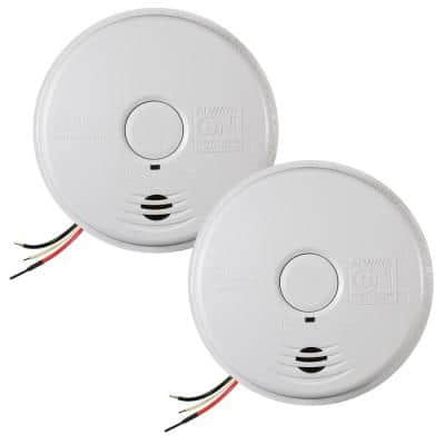 10 Year Worry-Free Hardwired Smoke Detector with Ionization Sensor and Battery Backup (2-Pack)