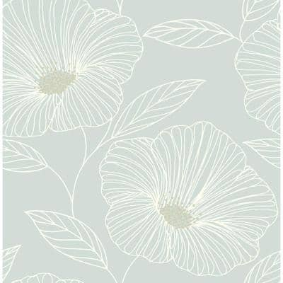 Green Non Pasted Floral Wallpaper Home Decor The Home Depot
