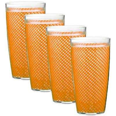 Fishnet 22 oz. Spice Orange Insulated Drinkware (Set of 4)