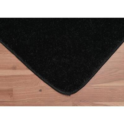 Gramercy Black Solid Polypropylene 3-Piece Bath Mat Set