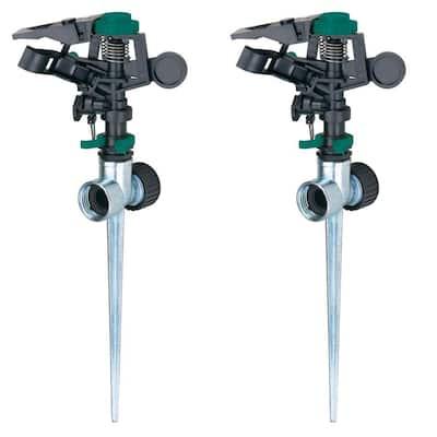 Pulsator Sprinkler with Zinc 2-Way Spikes (2-Pack)