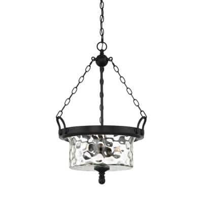Amilla 3-Light Natural Iron Inverted Pendant