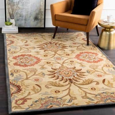 Cambrai Olive 2 ft. x 4 ft. Hearth Indoor Area Rug