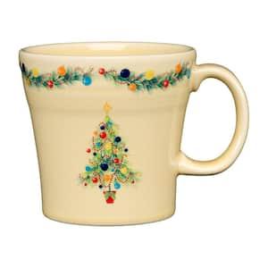 15 oz. Ivory Ceramic Christmas Tree Tapered Mug