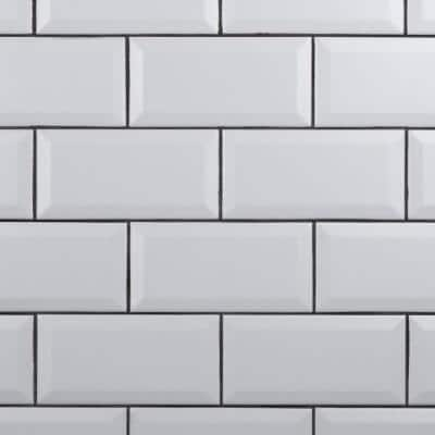 Crown Heights Beveled Matte White 3 in. x 6 in. Ceramic Wall Tile (170 Cases/1025.10 sq. ft./Pallet)