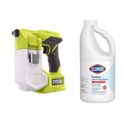 ONE+ 18V Cordless Handheld Sprayer (Tool Only)with Clorox Turbo 64 oz. Disinfectant Cleaner