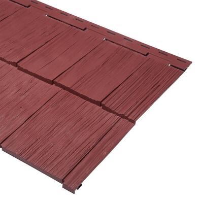 9 x 24 in. Russet Red Polypropylene Take Home Sample Cedar Dimensions Hand Split Siding