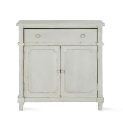 Mott Antique White Accent Cabinet