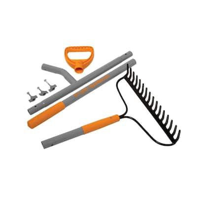 55 in. 16-Tine Bow Rake Steel Shaft Strain Reducing
