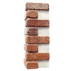 Brickwebb Dixie Clay Thin Brick Sheets - Corners (Box of 3 Sheets)  21 in x 15 in (5.3 linear ft.)