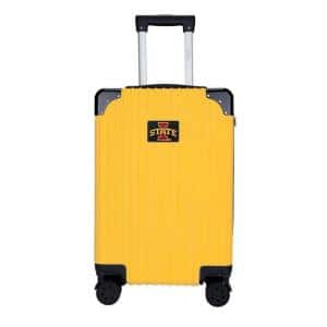 2-Toned 21 in. Lowa State in Yellow Cyclones premium Carry-On Hardcase