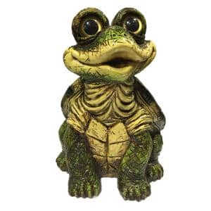 15.5 in. H Turtle X-Large Sitting Whimsical Home and Garden Statue