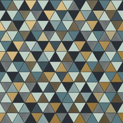 Triangular Multicolor Geometric Paper Strippable Wallpaper (Covers 57.8 sq. ft.)