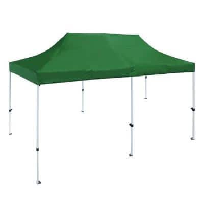 10 ft. x 20 ft. Green Gazebo Party Tent