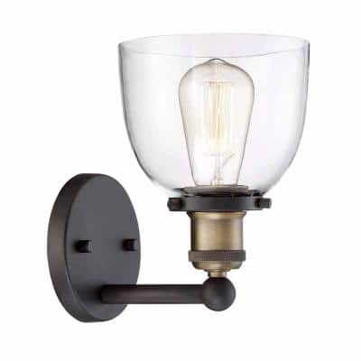 Evelyn 1-Light Artisan Bronze Wall Sconce (2-Pack)