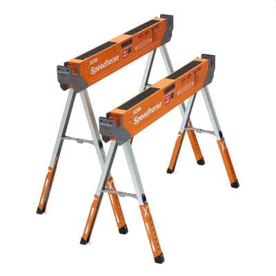 30 in. to 36 in. Steel Speed Horse XT Adjustable Height Sawhorse with Auto Release Legs (2-Pack)