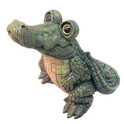 15.5 in. H Extra Large Standing Whimsical Gator Home and Garden Alligator Statue
