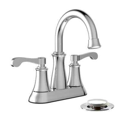 Belanger 4 in. Centerset 2-Handle Bathroom Faucet with Mechanical Pop-Up  in Polished Chrome
