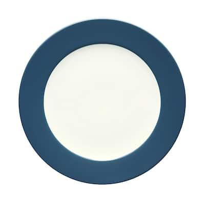 Colorwave Blue Stoneware Rim Dinner Plate 11 in.
