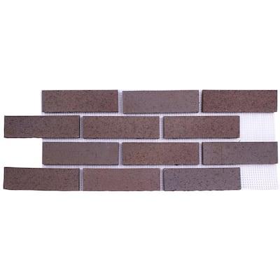 28 in. x 10.5 in. x 0.625 in. (6.99 sq. ft.) Brickwebb Manhattan Thin Brick Sheets Flats (Box of 4-Sheets)