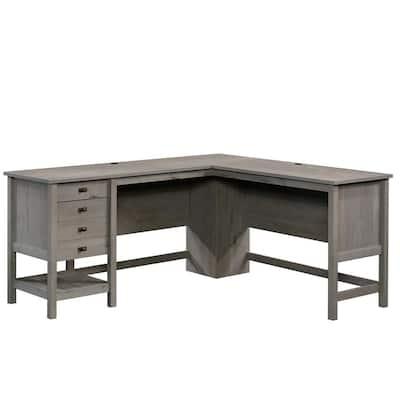 Cottage Road 65.118 in. Mystic Oak Engineered Wood L-Shaped Desk