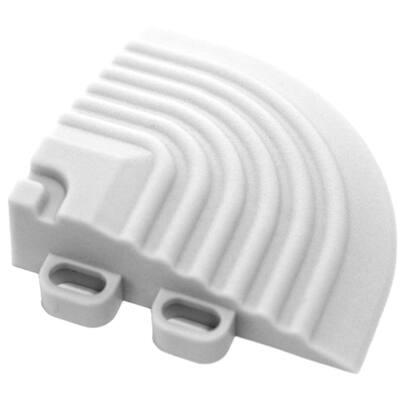 2.5 in. x 2.5 in. Artic White Corner Edging for 15.75 in. Modular Tile Flooring (2-Pack)