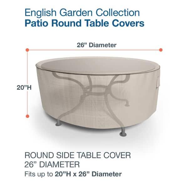 Budge English Garden Extra Small Round, Small Round Garden Table Cover