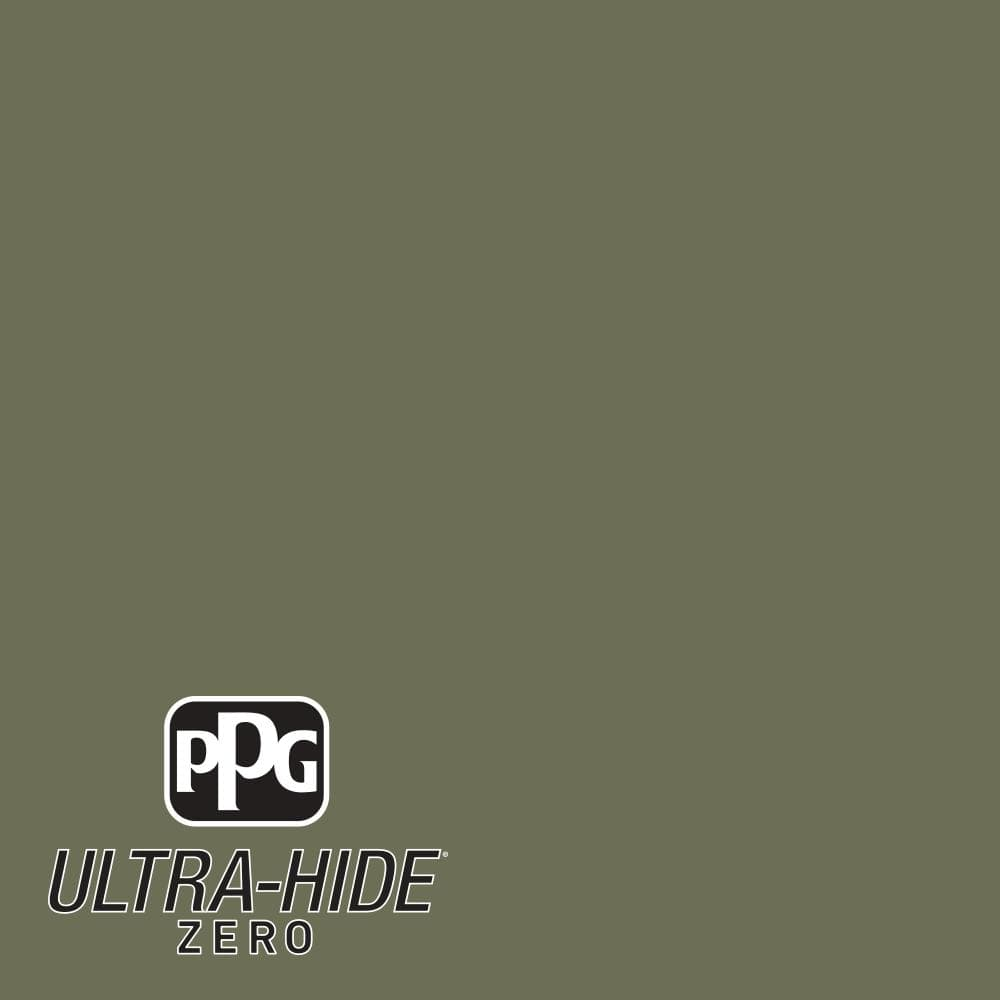 Ppg 1 Gal Hdpg26 Ultra Hide Zero Olive Green Satin Interior Paint Hdpg26z 01sa The Home Depot