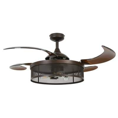 Meridian 48 in. Oil Rubbed Bronze AC Ceiling Fan with Light