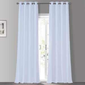 Ice Textured Grommet Blackout Curtain - 50 in. W x 84 in. L