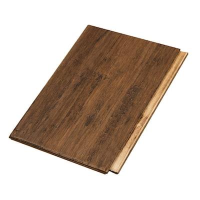 Take Home Sample - Bourbon Barrel W Click Bamboo Engineered Hardwood Flooring - 5.31 in. x 6 in.