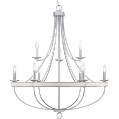 Gulliver Collection 9-Light Galvanized Finish Coastal Chandelier Light