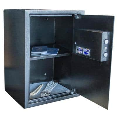 1.5 cu. ft. Floor Safe with Electronic Lock in Black