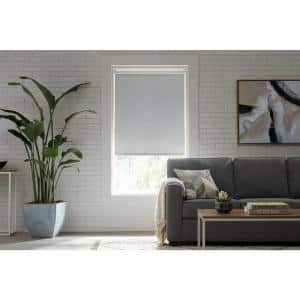 Cut-to-Size Cloud Cordless Blackout Fabric Roller Shade 72.25 in. W x 72 in. L